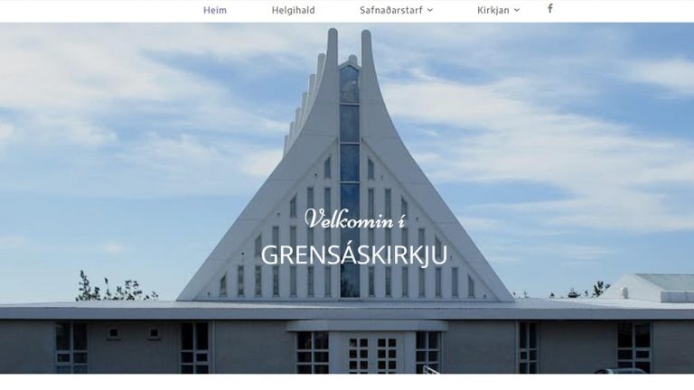 Vefhönnun og vefsíðugerð Grensáskirkja