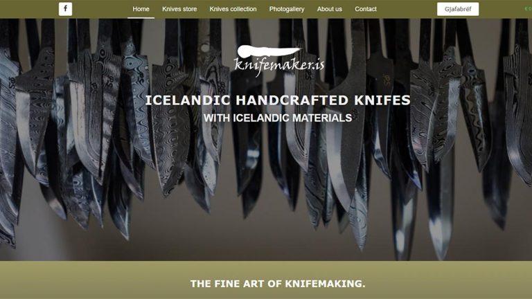 Vefhönnun og vefsíðugerð Knifemaker